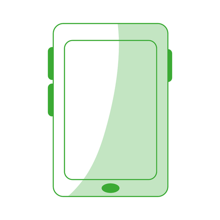responsive: Smartphone with blank screen icon image vector illustration design Illustration