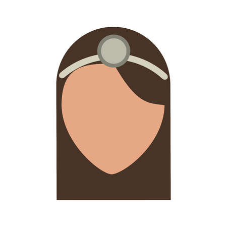Medical professional face icon vector illustration design graphic