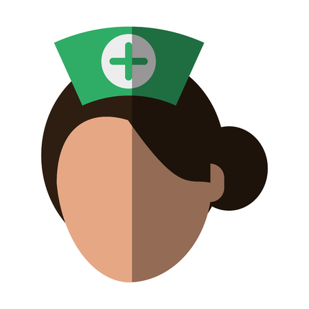 Medical professional face shadow vector illustration design graphic