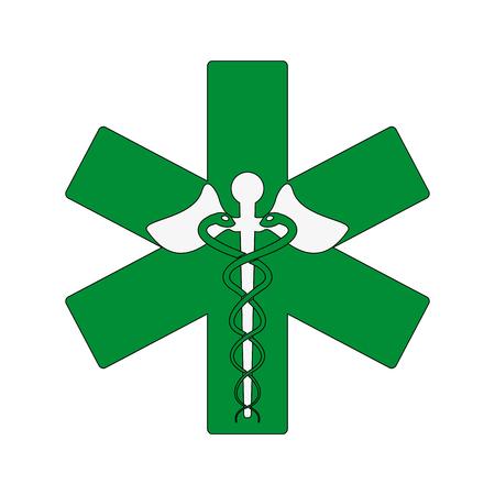 scepter: Medical symbol medicine flat vector illustration design graphic