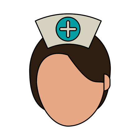 clinical staff: Medical professional face flat vector illustration design graphic