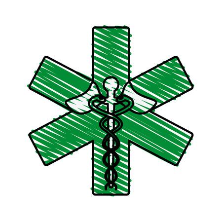 urgency: Medical symbol medicine doodle  vector illustration design graphic
