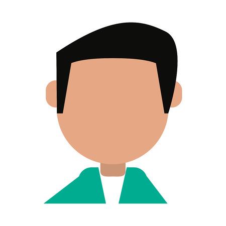 man cartoon isolated casual icon vector illustration design graphic