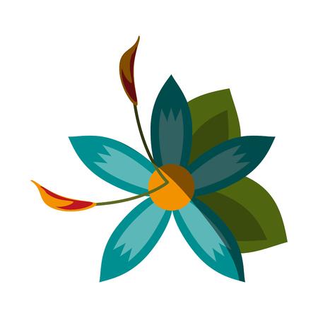 small delicate flowers icon image vector illustration shadow Banco de Imagens - 81143340