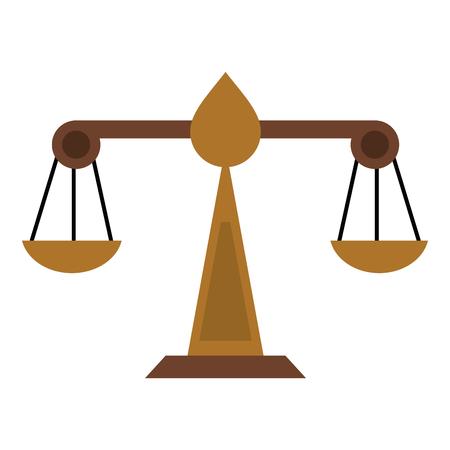 justice scale icon image vector illustration design