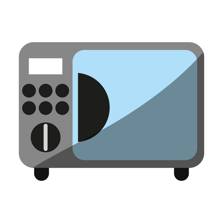 microwave oven household electric appliance icon image vector illustration design