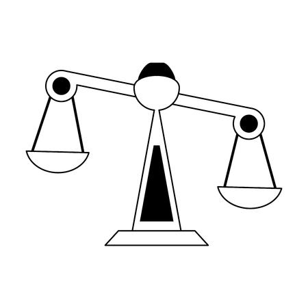 even: justice scale icon image vector illustration design