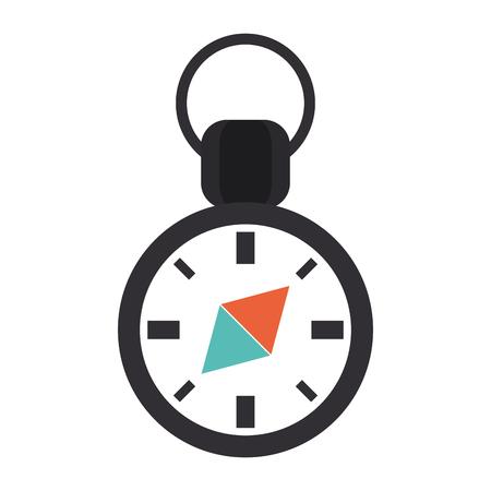 global positioning: navigation compass icon image vector illustration design Illustration