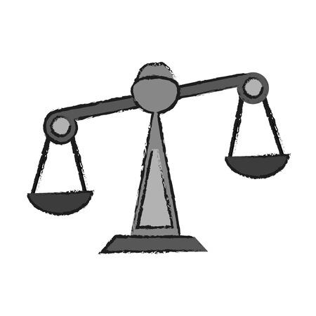 civil rights: justice scale icon image vector illustration design