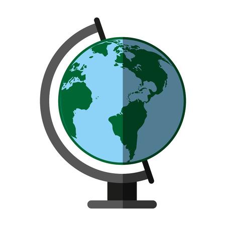 earth globe icon image vector illustration design