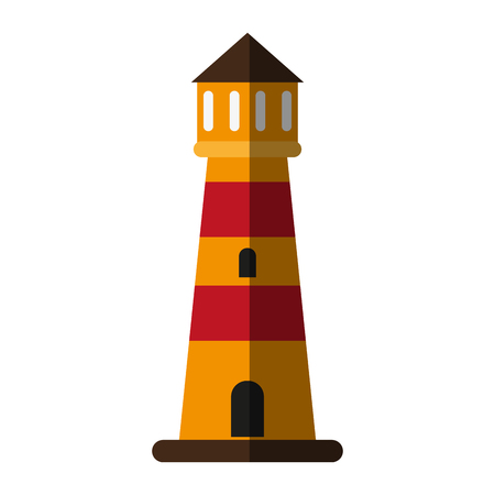 striped lighthouse icon image vector illustration design Illustration