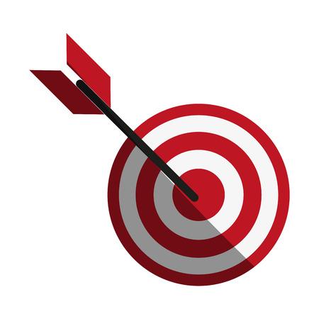 effectiveness: bullseye with dart icon image vector illustration design Illustration