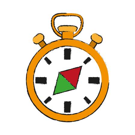 compass rose: navigation compass icon image vector illustration design Illustration