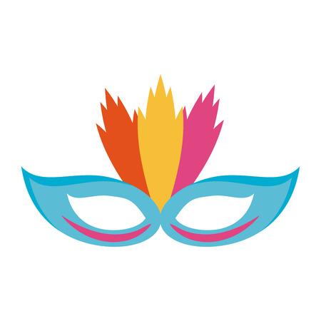 carnival mask icon image vector illustration design