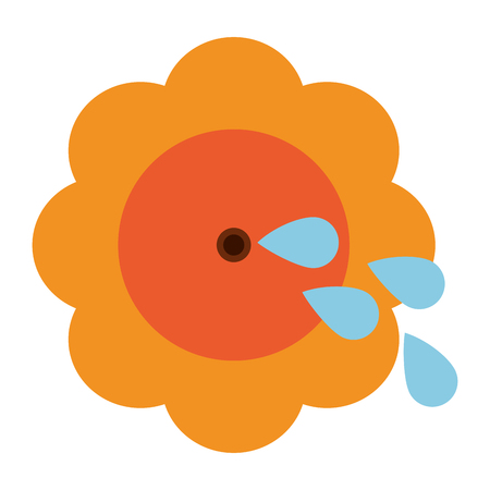 flower pin with water funny or joke item icon image vector illustration design