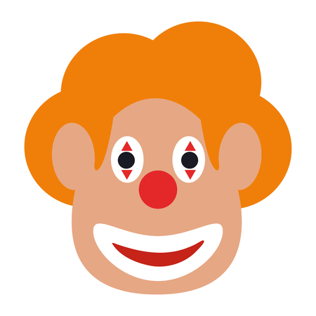 comedy: clown face icon image vector illustration design