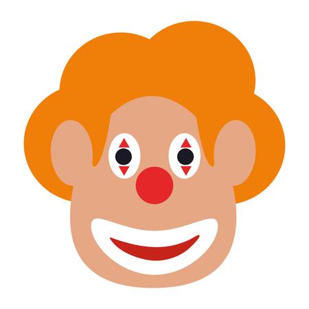 clown face icon image vector illustration design
