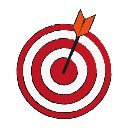 bullseye with dart icon image vector illustration design Illustration