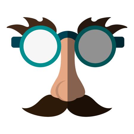 Gafas gracioso o broma elemento icono de la imagen ilustración vectorial diseño
