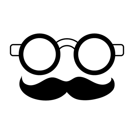 groucho marx glasses funny or joke item icon image vector illustration design  black and white