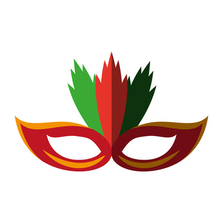 carnival mask icon image vector illustration design