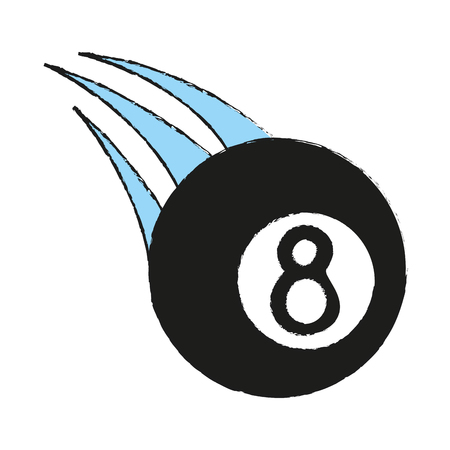 billiard eight ball sport icon image vector illustration design Illustration
