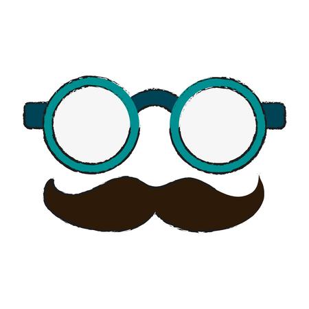 glasses funny or joke item icon image vector illustration design Illustration