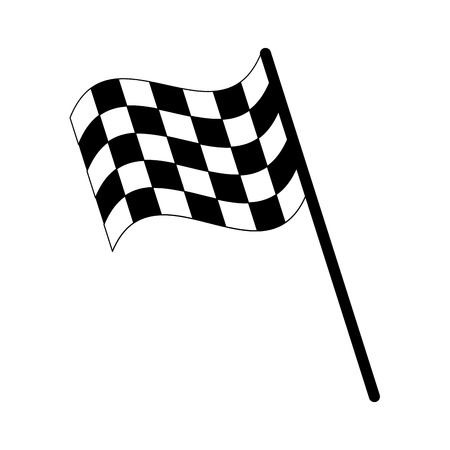 final lap flags icon image vector illustration design  black and white Illustration