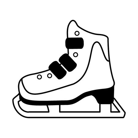 ice skate icon image vector illustration design  black and white