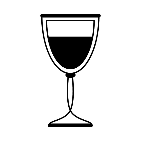 glass of wine icon image vector illustration design  black and white Stock Vector - 81145569