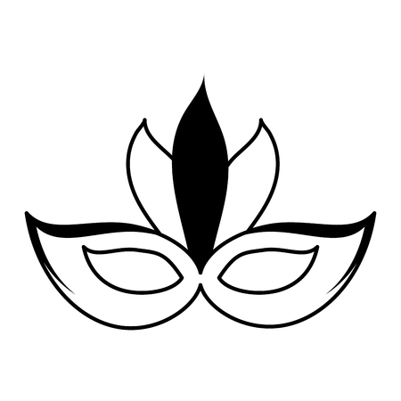 exciting: carnival mask icon image vector illustration design  black and white