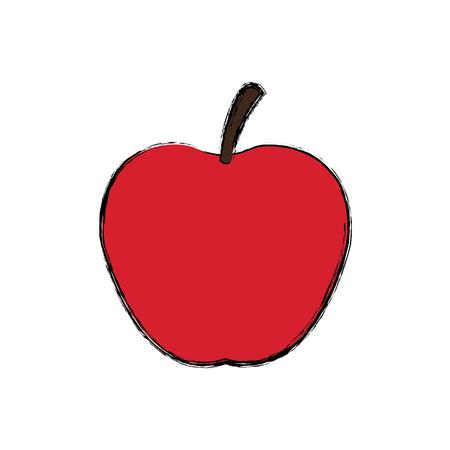 red apple fresh fruit dieting nutrition concept vector illustration Illustration