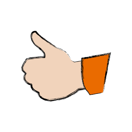 human hand with thumb up like gesture vector illustration Illustration