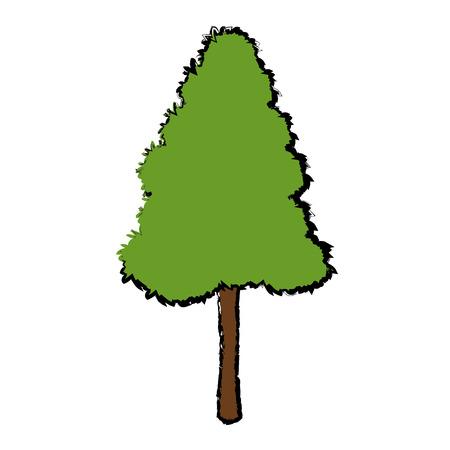 Arbre pour parc forestier et plante de jardin illustration vectorielle naturelle Banque d'images - 81165239