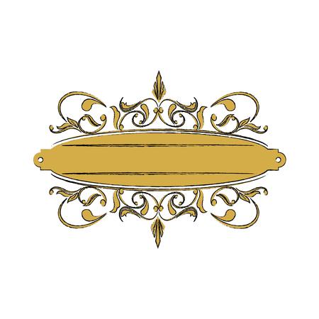vintage label with ornamental border badge elegant vector illustration
