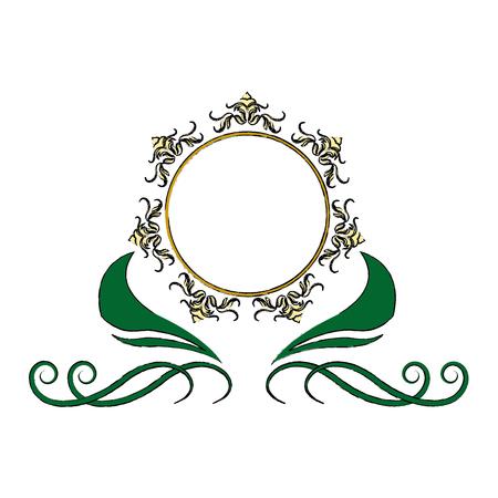 floral frame border decorative design element and fancy ornament vector illustration