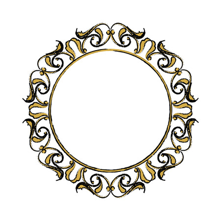 floral frame border decorative design element and fancy ornament vector illustration