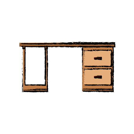 Wooden Desk Drawers Handle Furniture Office Vector Illustration Royalty  Free Cliparts, Vectors, And Stock Illustration. Image 81180362.