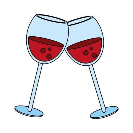 Delicious wine celebration flat  vector illustration design graphic