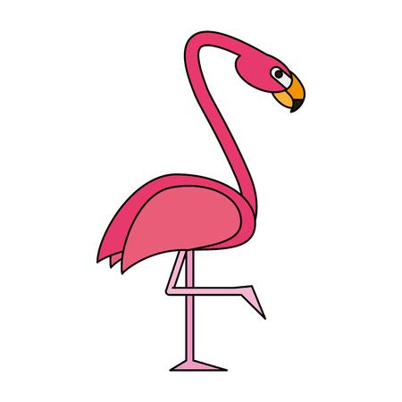 Exotic animal swan flat  vector illiustration design graphic