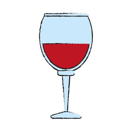 Delicious wine celebration draw vector illustration design graphic Illustration