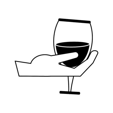 dinner party: Delicious wine celebration paint vector illustration design graphic Illustration