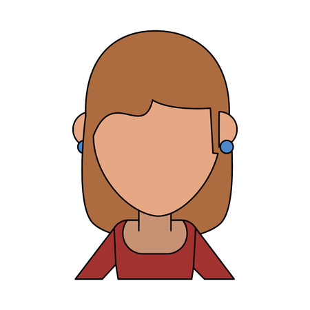 woman cartoon isolated casual flat vector illustration design graphic