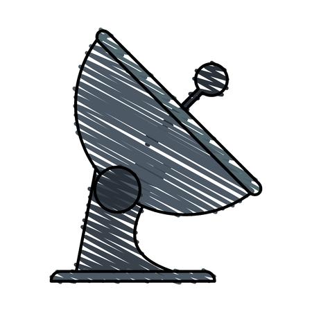 Communication signal antenna doodle vector illustration design graphic Illustration