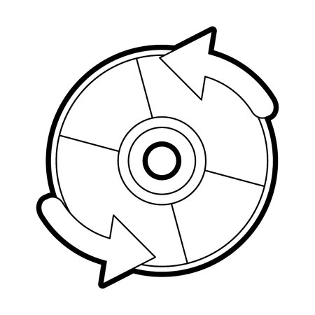 Cd player accessory paint vector illustration design graphic