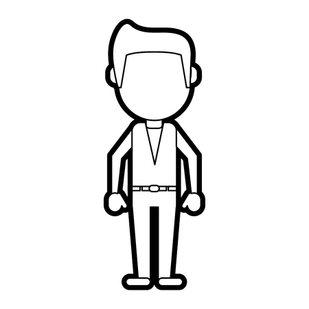 man cartoon isolated casual paint vector illustration design graphic