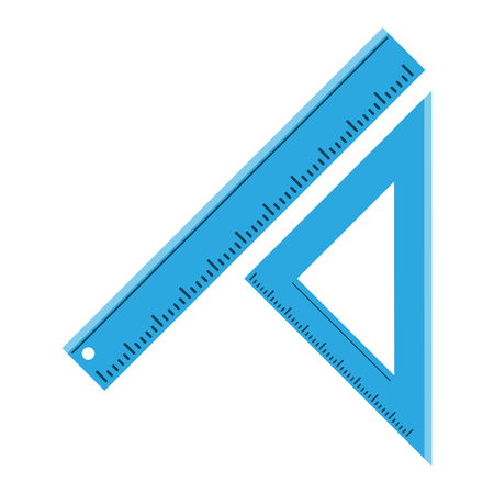 ruler school supply icon image vector illustration design