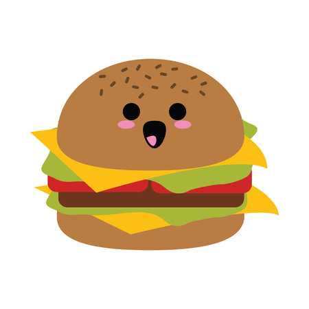 hamburger fast food icon image vector illustration design Illustration