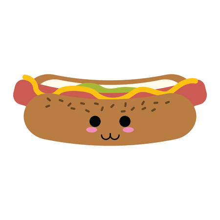 hot dog fast food icon image vector illustration design