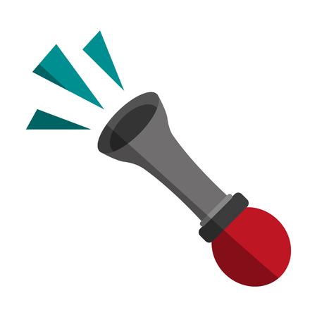 horn or klaxon icon image vector illustration design Illustration